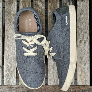 Tom's Movember Mustache Wool Lace Up Sneakers